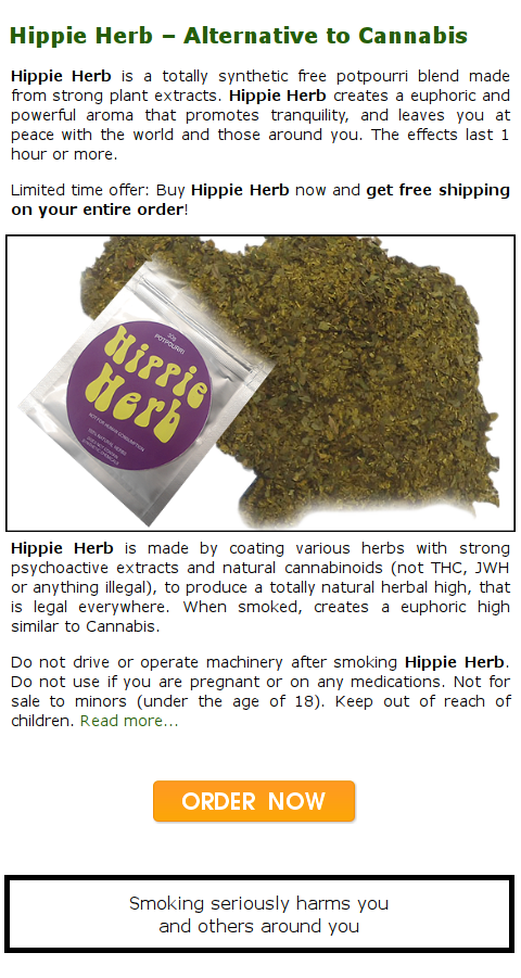 Hippie Herb Herbal Marijuana Alternative