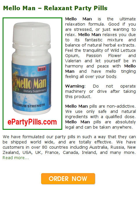 Mello Man Legal Highs - Herbal Relaxant Party Pills